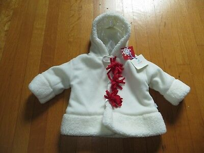 NEW Gund baby girl's white snowman face jacket 3 6 9 months Whimsy Wishes NWT