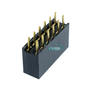 20PCS 2x2/3/4/5/6/7/8/10/40 Pin 2.54mm Double Row Female Straight Socket Header