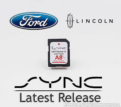 Ford & Lincoln A8 SYNC SD Navigation Card Map Update 2014 2015 2016 2017 2018