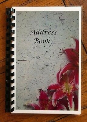 ADDRESS BOOK BIRTHDAY ANNIVERSARY No Tabs