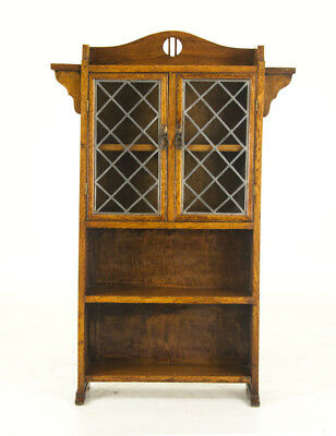 Arts and Crafts Furniture | 2 Door Leaded Glass Bookcase | Scotland, 1870 | B842