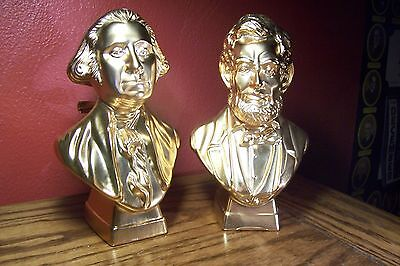 (2) AVON After Shave Decanters - Washington & Lincoln (Full With Original Boxes)