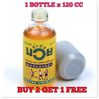 BUY 2 GET 1 FREE Namman Muay Thai Boxing Oil Liniment Muscular Pain 120 ccBottle