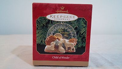 1999 Hallmark Handcrafted and Acrylic Ornament  '' Child of Wonder '' in Box