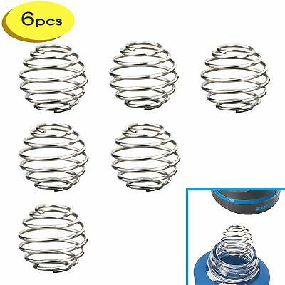 6 Small Stainless Wire Shaker ball Wire Mixer Whisk Ball for zulu glass bottle