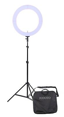 Fodoto 18 inch Table-Top Fluorescent Diva Ring Light Kit Daylight