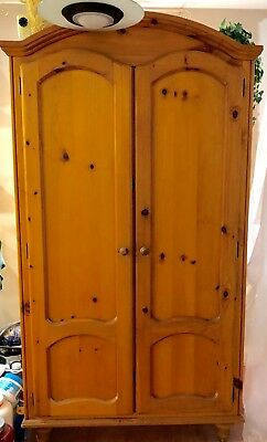 Carson Pirie Scott PINE Armoire in Natural Honey Color