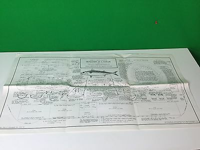HUGE American Fishing Schooner Benjamin W Latham Model Shipways Co Blueprint #4