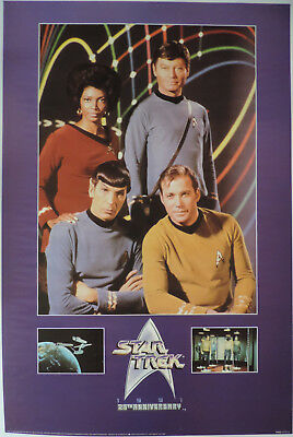 Star Trek (TOS) 25th Anniversary  - Cast Poster - Portal Publications ptw633