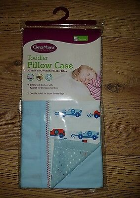 Clevamama Replacement Toddler Pillow Case Cover (Blue) Approx 52x33cm