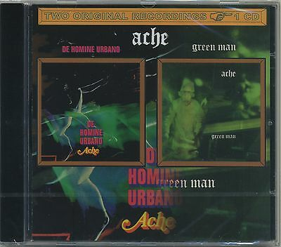 Ache - De homine urbano + Green Man  rare 2 on 1 Psychedelic Progressive Rock CD