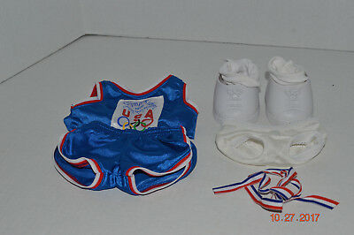 Cabbage Patch Clothing~1996~Olympikids~USA~Shirt~Shorts~Panties~Shoes~Socks~N1