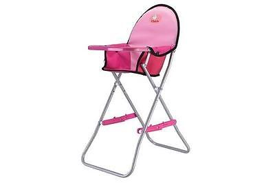 Chica Portable Doll High Chair Pink Folds Away    Pretend Parents New