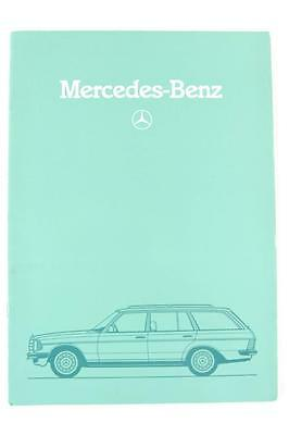 Mercedes Benz wagon T series 1982 32 page sales brochure