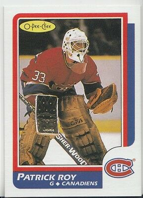1986-87 NHL OPC O-Pee-Chee # 53 Patrick Roy RC Rookie Reprint Montreal Canadiens