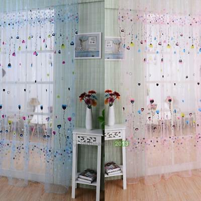 Balloon Tulle Voile Window Curtain Sheer Panel Drapes Kids Bedroom Home Decor