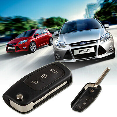 3 Button Flip Folding Remote Key Fob Case Shell Fit For FORD Focus Fiesta C-Max