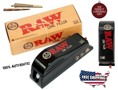 RAW Natural Rolling Papers Cone Shooter Filling Machine King Size NEW