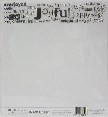 "5x Hot Off The Press 8""x8"" Acetate Overlay Joyful For Card Making & Scrapbooking"
