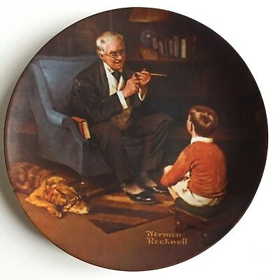 Vintage Knowles THE TYCOON Norman Rockwell Limited Edition Collector Plate