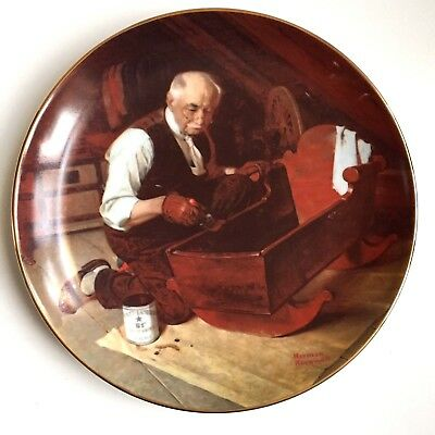 Vintage Knowles GRANDPA'S GIFT Norman Rockwell Collector Plate 1987