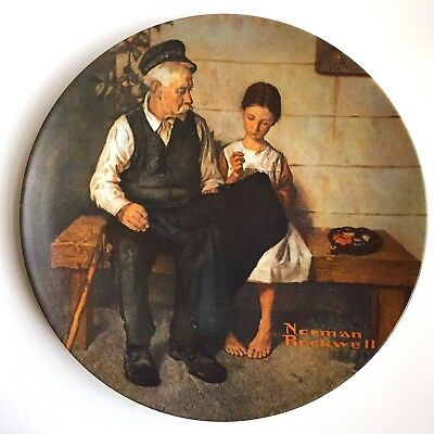 Knowles THE LIGHTHOUSE KEEPER'S DAUGHTER Norman Rockwell Collector Plate 1979