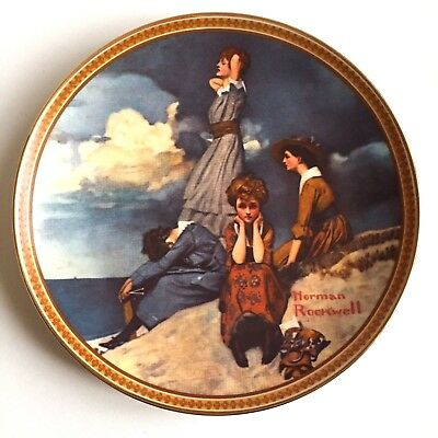 Vintage Knowles WAITING ON THE SHORE Norman Rockwell Limited Ed Collector Plate