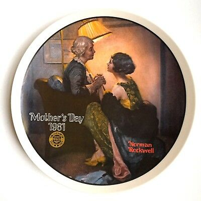 Vintage Knowles AFTER THE PARTY Norman Rockwell Mothers Day Collector Plate 1981