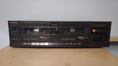 Vintage Technics RS-T18 Stereo Double Cassette Deck - Tested - Working