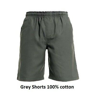 Pack of 2 Grey School Shorts 100% cotton size 8