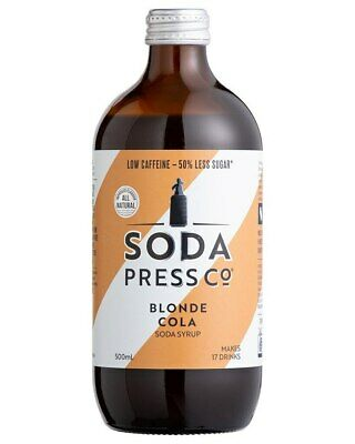 Soda Press Co Organic - Blonde Cola Syrup 500ml