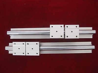 12mm linear slide guide shaft SBR12-600mm 2 rail+4 sbr12uu bearing block CNC set