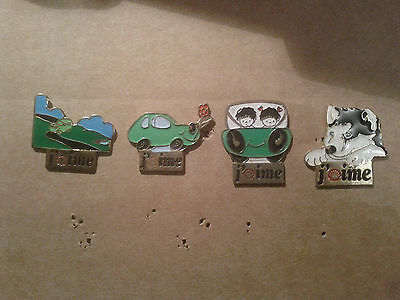 LOT 4 PIN'S SERIE  j'aime SHELL différents  PINS  badge