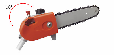 9T Rotatable Pole Saw Chainsaw Head For Brushcutter Multi Tool Fit Baumr-Ag Mtm