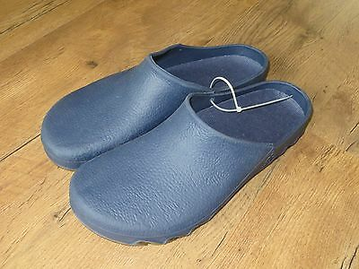 Mens Gents Blue Garden Clogs 44/45 UK 10 / 11 Plastic Slip On Shoes Patio