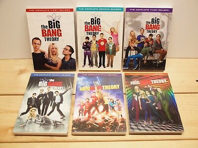 The Big Bang Theory Seasons 1-6 DVD Set / Series 1 2 3 4 5 6 DVDs, excellent!
