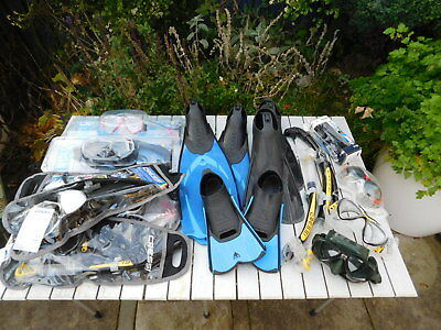 Large collection of Cressi swimming accessories new and used