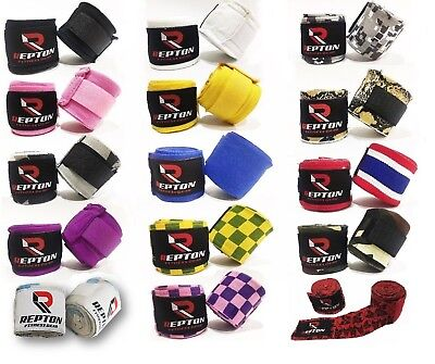 Pro Boxing Hand Wraps Mau Thai MMA Bandages Repton Elasticated Boxing Hand wraps