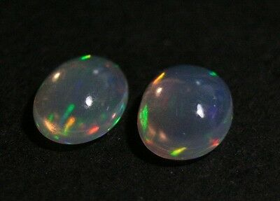 2.14ct Welo Opal Pair - 2X Neon Flash Jelly Opal - AAA Cabochons