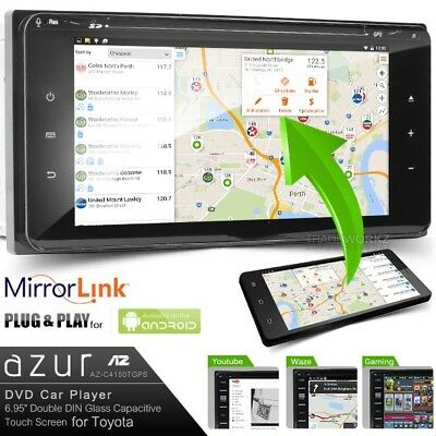 AZUR 200mm TOYOTA Double DIN GPS Ready Mirror Link Car DVD Player (Japan) Stereo