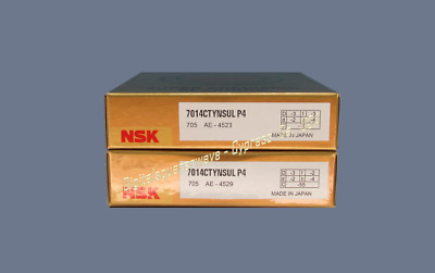NSK 7014CTYNSULP4 Abec-7 Super Precision Spindle Bearings. Matched Set of Two
