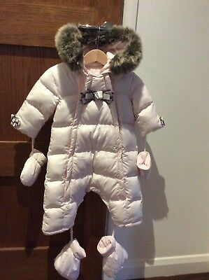 Tartine Et Chocolat Baby Pink Snowsuit Size 6 Months Immaculate Condition