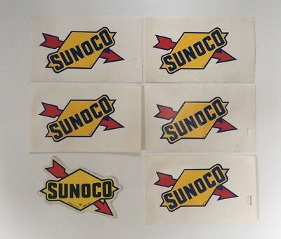 Vintage Lot Of 6 Sunoco Sun Oil Gas Station Rat Rod Garage Decals