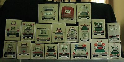 Lot of 19 Collectible Hess Trucks 1987-2006 USED - LIKE NEW Condition!