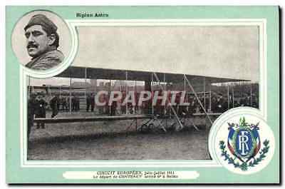 CPA Avion Aviation Biplan Astra Circuit Europeen Juin Juillet 1911 Le depart de