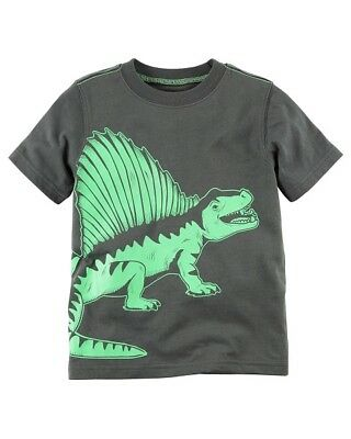 Carter's Charcoal Gray Dinosaur Tee Shirt Top Infant Baby Boy 12 Months NEW