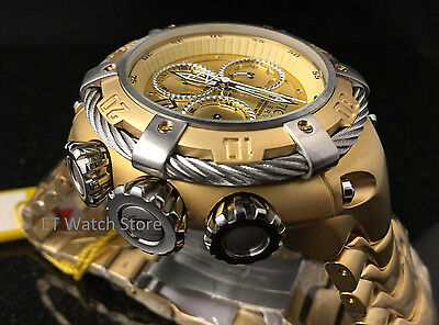 NEW Invicta Reserve 52mm Thunderbolt Chronograph Stainless Steel Bracelet 21345