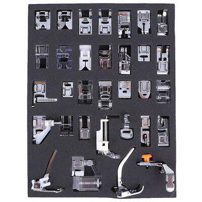 3X(32pcs Multifunctional presser feet for household sewing machine J3I3