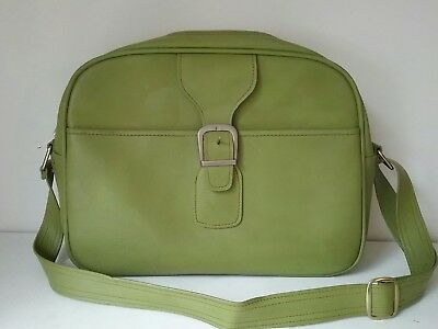 Vintage Samsonite Saturn II Faux Leather Suitcase Carry On Bag Luggage Green