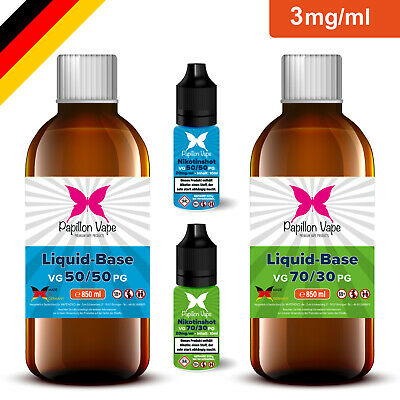 1 Liter E Liquid Base 3mg DIY Set mit Nikotin Shots 20mg 50/50 70/30 E Zigarette